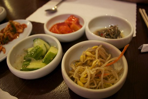 Banchan at Tofu House