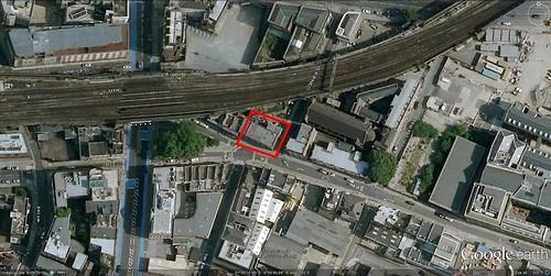 the site for Sadakova's vertical gradens (via Google Earth)