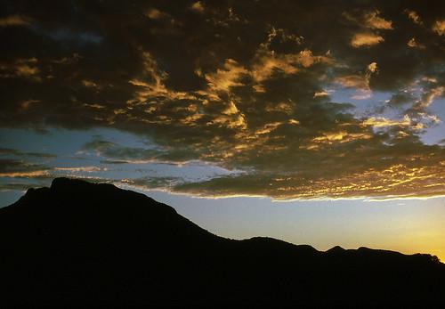 park sunset sky film silhouette clouds 35mm se mt australia slide hills national scanned qld queensland barney 1990 jacksplace mtmaroon