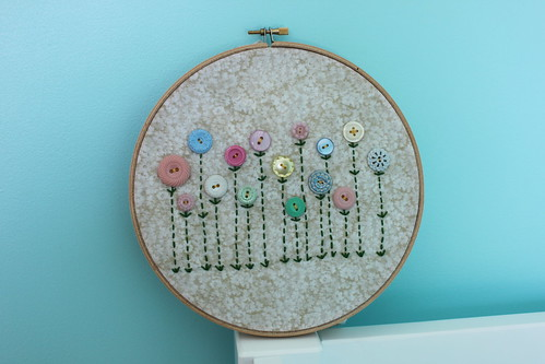 Aunty Jill's button flower hoop
