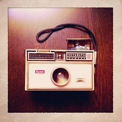 The pocket camera style began in early 60s. This one is first Instamatic from Kodak. #neoretrogizmos