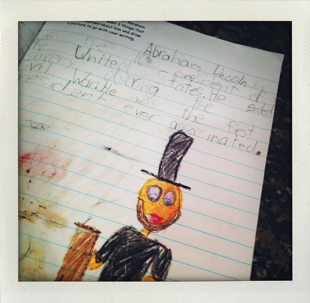 Abraham Lincoln. First grade journaling.