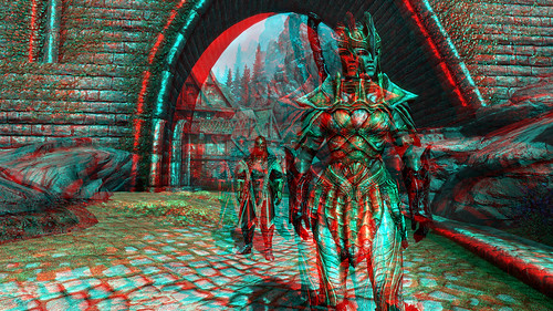 Skyrim in 3D anaglyph