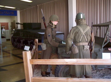 A series of dioramas bring the war experience to life for visitors to the 12th Armored Division Memorial Museum in Abilene, Texas.