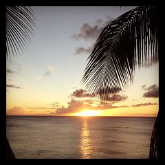 #sunset in #stmartin #island this #evening from my #hotel #suite in front of #caribbean #sea