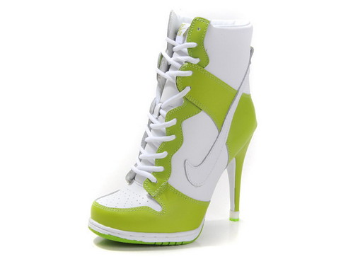 one piece bikinis Nike-Dunk-SB-Women-High-Heels White and Apple Color beauty model stars