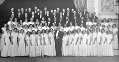 Gawler Oratorio Choir 1953. Besides being its conductor Boyd Dawkins (front centre) was the driving force behind the success of the choir. It performed throughout the Barossa area, as far a field as Adelaide and the Riverland, and broadcast on radio.