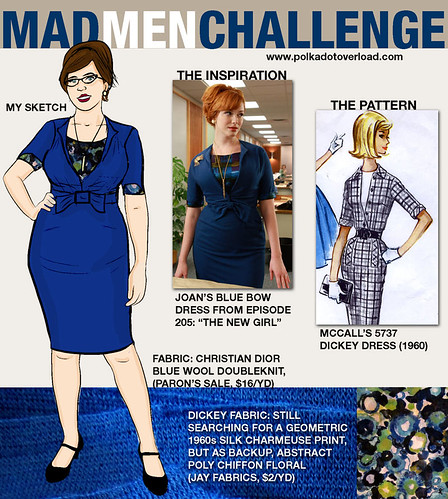 Mad Men Sewing Challenge Sketch: Joan Dress