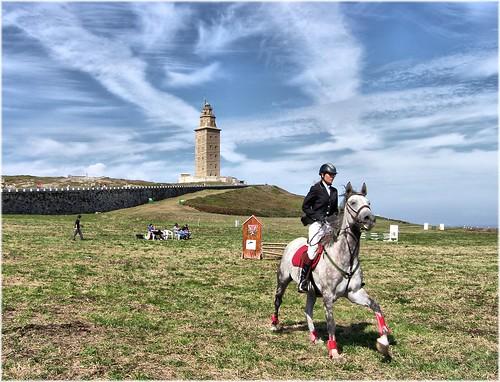 2507-Hipica na Coruña ao pe da Torre.