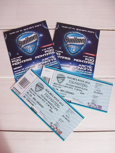 my tickets for foo fighters and artic monkeys!!