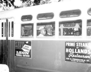 Gentlemen protesting segregated bus seating: Tallahassee, Florida