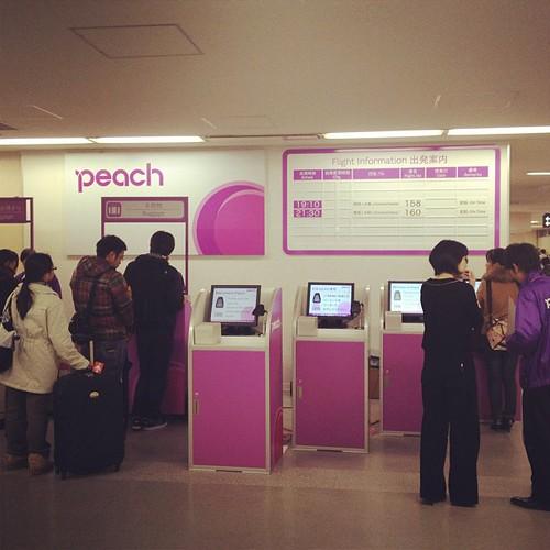 ピーチ航空自動チェックイン@福岡空港