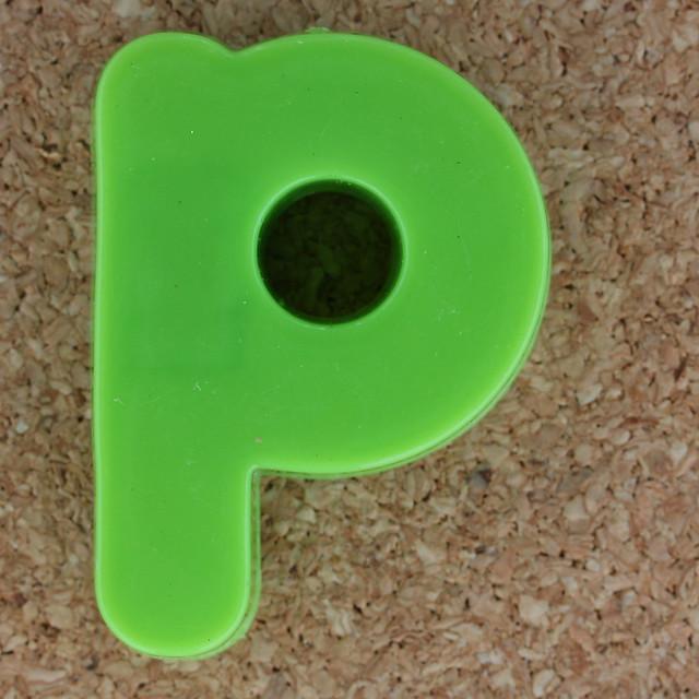 Magnetic letter p