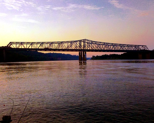 bridge ohio river landscapes fishing gumm gumm238