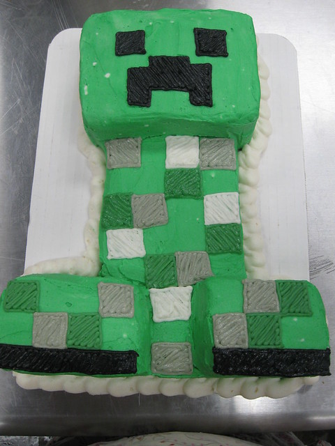 Minecraft Creeper Cake Flickr Photo Sharing