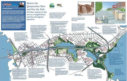 Page from the Fall River plan, Massachusetts Urban River Visions program