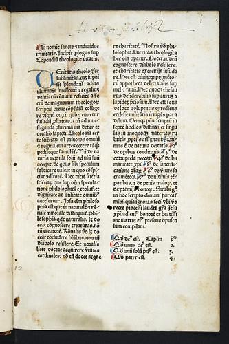 Title incipit of Hugo (Ripelin) Argentinensis: Compendium theologicae veritatis