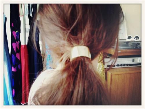 gold hair cuff.