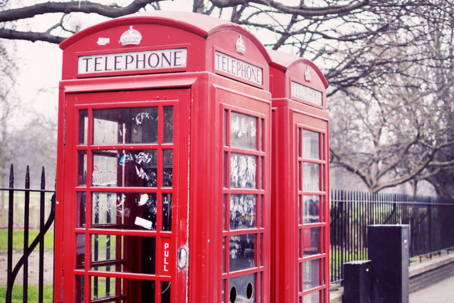 Phonebooth in London, England