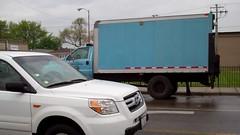 automobile(1.0), automotive exterior(1.0), sport utility vehicle(1.0), vehicle(1.0), truck(1.0), honda pilot(1.0), honda(1.0), bumper(1.0), land vehicle(1.0),