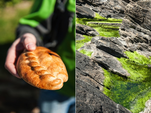 Cornish Pastie and rocks