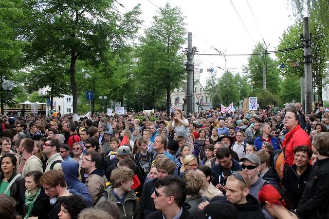 Proteste gegen Nazidemo in Bonn