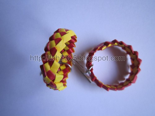 Handmade Jewelry - Paper Knot Hoops 1 by fah2305