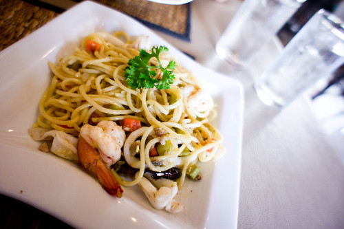 Italian's spaghetti with salted fish