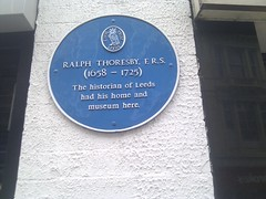 Photo of Ralph Thoresby blue plaque