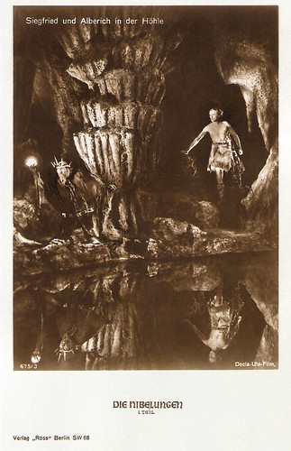 Die Nibelungen, Siegfried und Alberich in der Höhle