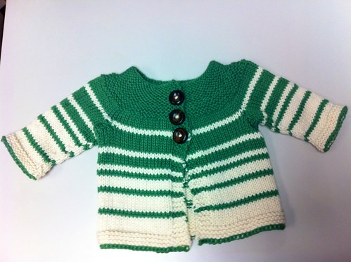 Sweater for pending Wee Laddie is DONE! So. Cute.