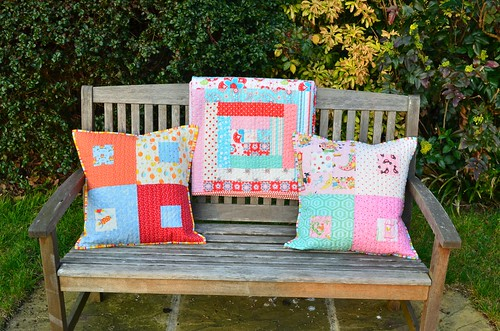 Josephine's Quilt with the sibling cushions