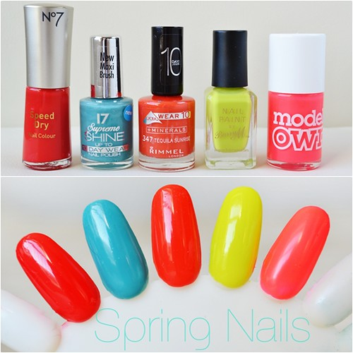 Spring bright nail polish picks 2012