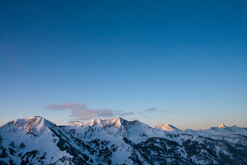 The Wasatch at dawn