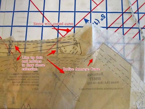 Extend Cap Sleeve Armscye Curve