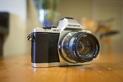Olympus OM-D E-M5 with Jupiter 8 lens