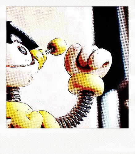 Sneak Peek: comically positive robot by HerArtSheLoves