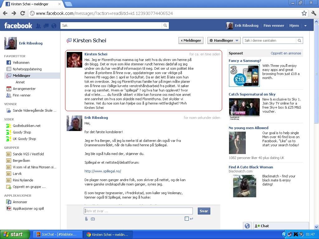 facebook moren til florenthyna