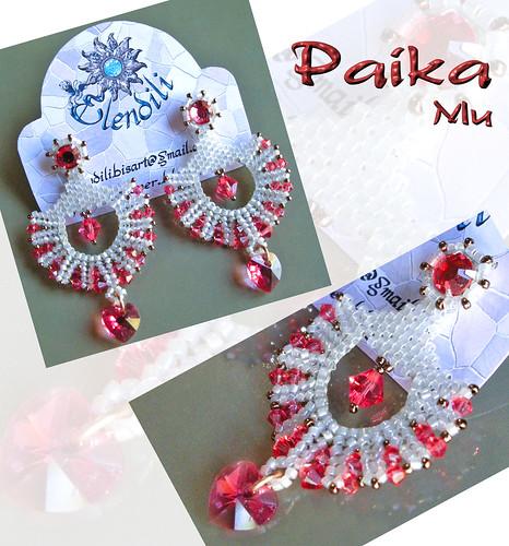 Pendientes flamenca coral-blanco roto by **Elendili**