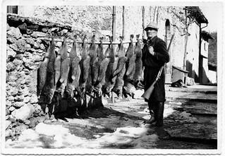 Ascoli com'era: Acquasanta Terme, il cacciatore Antonio (~1970)