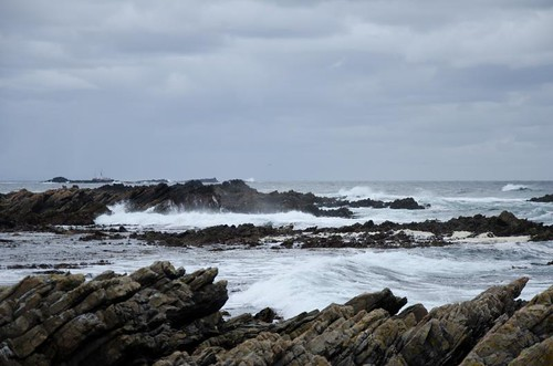 sea islands rocks waves rough falkland