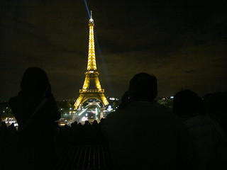 Eiffel Tower at night from Trocadero