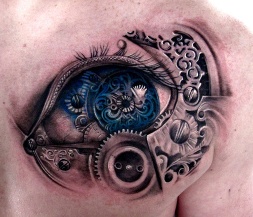 Tattoo-Olho-Biomecânico-SteamPunk