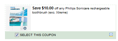 Philips Sonicare Rechargeable Toothbrush Coupon