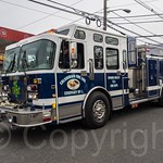 Spring Valley NY Fire Truck, 2014 Bergen County St. Patrick`s Day Parade, Bergenfield, New Jersey