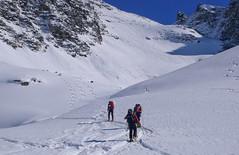 Podejscie pod przełęcz Pso dell Angelo (3337m)