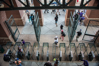 Turnstiles at Coors Field
