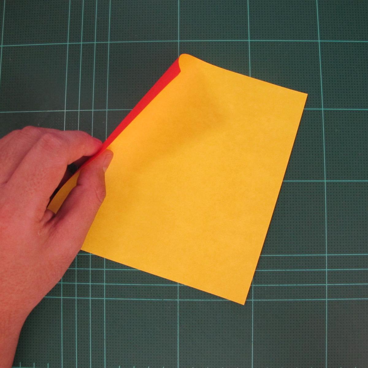 สอนวิธีพับกระดาษเป็นดอกกุหลาบ (แบบฐานกังหัน) (Origami Rose - Evi Binzinger) 001