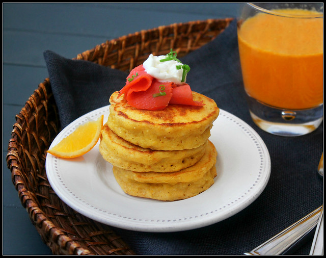Corn Cakes with Smoked Salmon