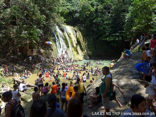 The party at Daranak Falls.